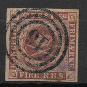 Denmark 1851 - AFA I - Cancelled