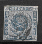 Danmark 1854 - AFA 3 - stemplet
