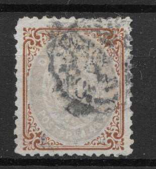 Danmark 1870 - AFA 21 - stemplet