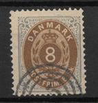 Danmark 1871 - AFA 19 - stemplet