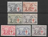 Belgia 1934 - AFA 385-391 - Käyttämätön liimakkeella