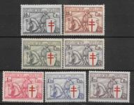 Beligien 1934 - AFA 385-391 - ustemplet