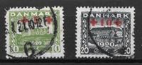 Denmark 1921 - AFA 120-121 - Cancelled