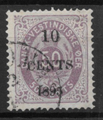 Danish West Indies  1895 - AFA 15 - Cancelled