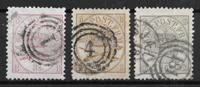 Denmark 1864 - AFA 12+14+15 - Cancelled