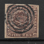Denmark 1853 - AFA II a - Cancelled