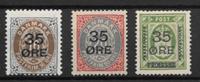 Denmark 1912 - AFA 60-62 - Unused