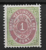 Danish West Indies  1873 - AFA 5 tryk 2 - Unused