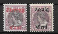 Alankomaat 1919 - AFA 97 + 98 - Käyttämätön liimakkeella