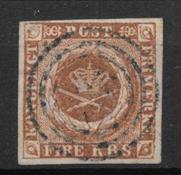 Denmark 1854 - AFA III b - Cancelled