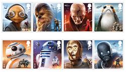 Great Britain - Star Wars - Mint stamp 8v