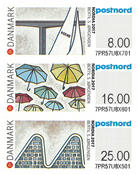 Denmark - Exhibition Nordia 2017 in Denmark - Mint set of exhibition stamps