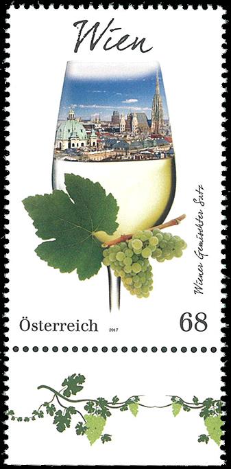 Østrig - Vinregion Wien - Postfrisk frimærke