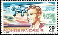 French Polynesia 1977 YT PA125 50 anniv. Charles Lindbergh