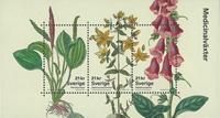 Sverige - Medicinske planter - Postfrisk miniark
