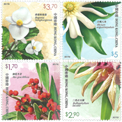 Hong Kong - Rare Plants - Mint set 4v