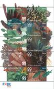 Saba - Underwater world - Mint sheetlet 10v