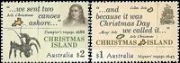 Christmas Islands - Opdagelsesrejsende - Postfrisk sæt 2v