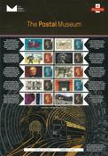 England - Postmuseum - Postfrisk ark