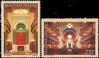 Ungarn - Synagoger - Postfrisk sæt 2v