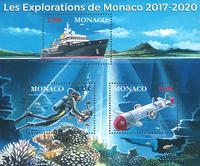 Monaco - Havforskning - Postfrisk miniark