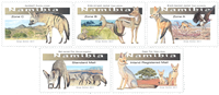 Namibia - Small canids - Mint set 5v