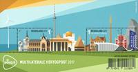 Holland - Fællesudgave med Luxembourg - Postfrisk miniark