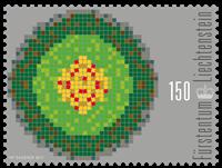 Liechtenstein - Befolkningstæthed - Postfrisk frimærke
