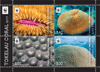 Tokelau - Koraller - Postfrisk miniark