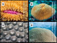 Tokelau - Koraller - Postfrisk sæt 4v