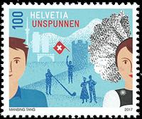 Switzerland - Unspunnen - Mint stamp