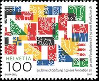 Switzerland - 50 years of foundation - Mint stamp