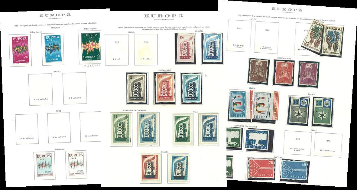 Europamærker Cept - Samling