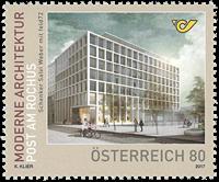 Østrig - Posthus Rochus moderne arkitektur - Postfrisk frimræke