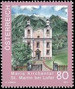 Østrig - Kirker i Østrig - Postfrisk frimærke