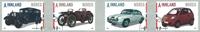 Norge - Biler - Stemplet sæt 4v