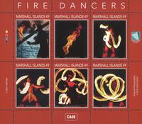 Marshall Islands - Fire Dance - Mint souvenir sheet