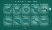 Marshall Islands - Atolls of the Marshall - Mint souvenir sheet