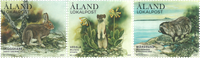 Åland - Skovens pattedyr - Postfrisk sæt 3v