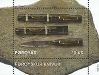 Faroe Islands - Knife - Mint souvenir sheet