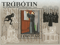Færøerne - Reformationen - Postfrisk miniark