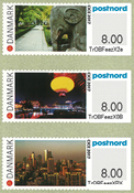 Denmark - Exhibition CICE 2017 in China - Mint set exhibition stamps 3v