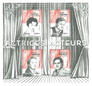 France - Actresses & Actors - Mint souvenir sheet