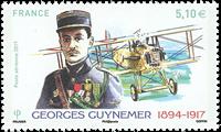 Frankrig - Guynemer luftpost - Postfrisk frimærke