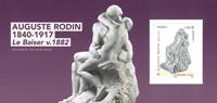 Frankrig - Auguste Rodin - Postfrisk miniark i folder