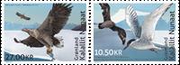 Grønland - Fællesudgave med Fransk Antarktis - Postfrisk sæt 2v