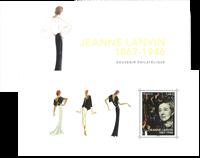 France - J.Lanvin folder - Mint souvenir sheet in folder