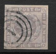 Dinamarca 1854 - AFA 6 - Usado