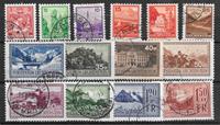 Liechtenstein 1933 - AFA 125-138 - Cancelled