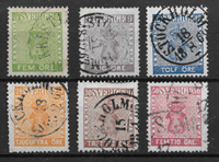 Sweden 1858 - AFA 7-12 - Cancelled